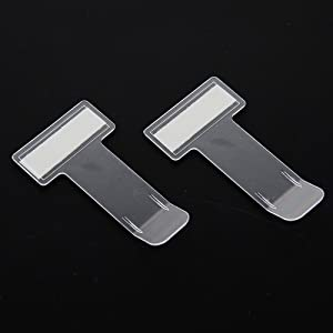 FGF-EU Pcs Transparent Car Vehicle Windscreen Parking Ticket Clip Permit Pass Holder Gadget with Adhesive Pads