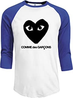 Men's CDG Black 3/4 Sleeve Raglan Baseball T-Shirts Black