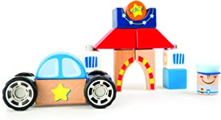 Small Foot 10081 Police Wooden Construction Set