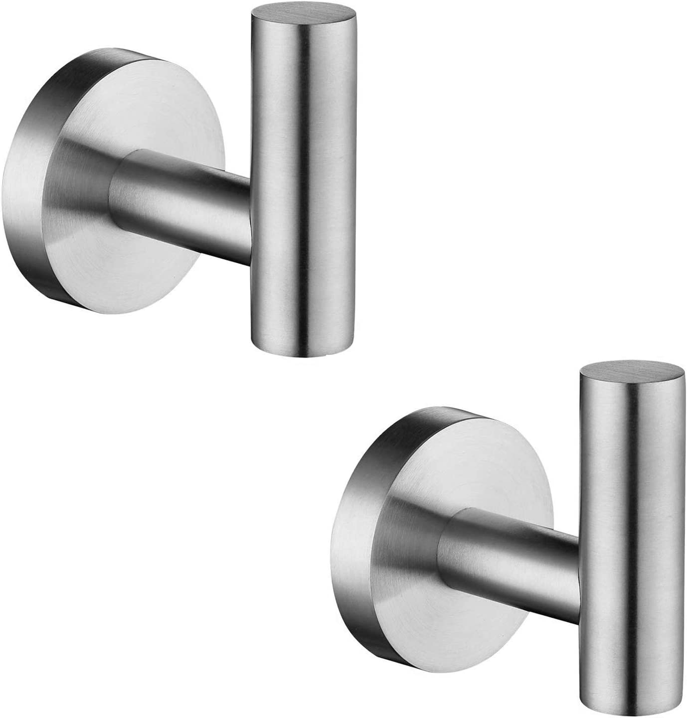 YASEking 2Pc 304 New mail order Stainless Steel Tulsa Mall Bathroom Wall Tow Hooks Clothes
