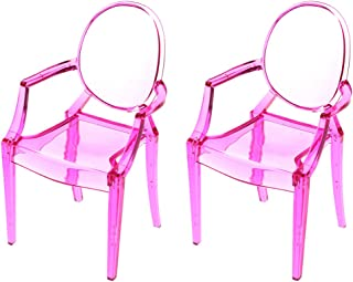 CUTICATE Vintage Mini Ghost Chair Armchair 2pcs Furniture for 1:6 Dollhouse, for Blythe, for 1/6 BJD, for 12 inch Action Figures