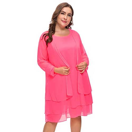 ca181b1cc21 MERRYA Women s Plus Size Business Chiffon Jacket Mother of The Bride Dress  Suit