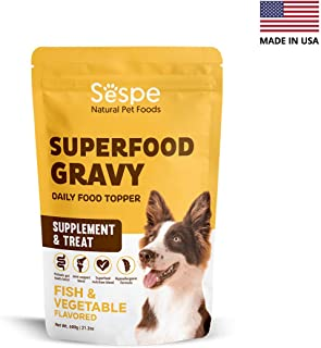 Sespe 3 in 1 Supplement for Dogs with Glucosamine, Probiotics and Multivitamins to Promote Healthy Digestion, Pain-Free Joints and Good Nutrition – Great for Picky Eaters - All Natural Gravy Topper