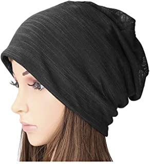 SUOSDEY Women's Cotton Beanie Lightweight Turban Slouchy Beanie Hat Cap