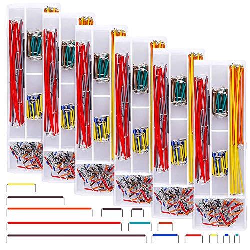 ZHITING 840 Pezzi Breadboard Jumper Wire Kit 14 Lunghezze Assortiti Jumper Wire per Breadboard Prototipazione Salder Circuiti