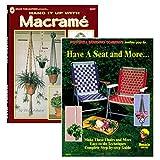 Pendure e tenha um assento faça você mesmo trançando livros de macramé de tricô - 1 e 2 pacotes, 2 Pack - Includes Both Books, 1