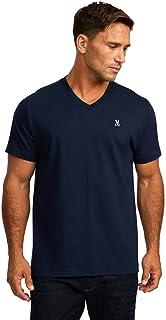 Psycho Bunny Men's Classic V-Neck Bunny T-Shirt