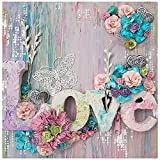 MZSM DIY 5D Diamond Painting Kit,Pintura de Diamantes Kit Completo,Amor Flor Mariposa Pintura Diamantes Kits Completo Bordado De Punto De Cruz Diamante Arts Craft para Decoración de Paredes (35x35cm)