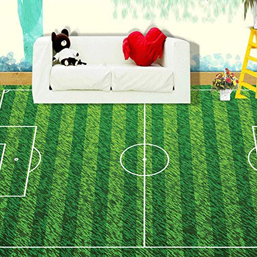 Papel pintado autoadhesivo para suelo de pvc Papel tapiz 3D Mural personalizado Campo de fútbol verde Césped Lvyinchang Sala de estar Dormitorio Habitación para niños Mural de suelo de PVC 3D Papel