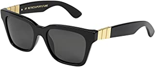 Sunglasses America Gianni S1W Black / Gold with Green Zeiss Lenses