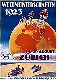 Weltmeisterschaften 1923 Vintage Poster (artist: Ernst) Switzerland c. 1923 (12x18 Fine Art Print, Home Wall Decor Artwork Poster)