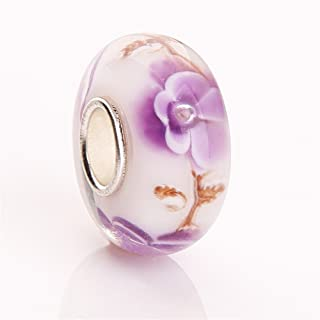 HYBEADS One Per Murano Glass Authentic 925 Sterling Silver Solid Core Charm Fits Pandora Chamilia Biagi Troll Beads Europen Style Bracelets