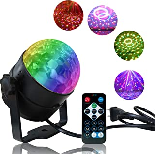 Disco Light Disco Ball Party Strobe Light, Sound Activated Party Lights with Remote Control for Dance Parties, Halloween, Christmas,Party,Gift,Birthday,Celebration,Decorations,Home,Karaoke,DJ,Bar