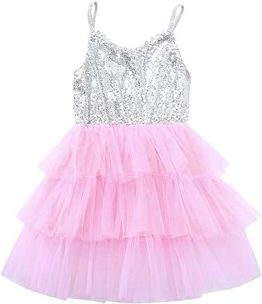 Kingspinner Girls Dress Short Sleeve Lace Hollow Party Wedding Princess Dress Girls Clothes