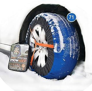 Chaussette neige textile pneu 225//45R17 excellente protection de la jante Valise comprenant 2 chaines textile et 1 paire de gants