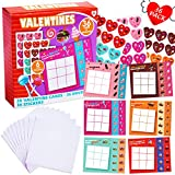 FUNNISM 36 Pack Valentines Day Gift Cards, Kids Tic Tac Toe Games Cards with Envelops & Stickers for Valentines School Classroom Exchange Gifts, Greeting Cards, Valentines Party Favors/Gifts Supplies