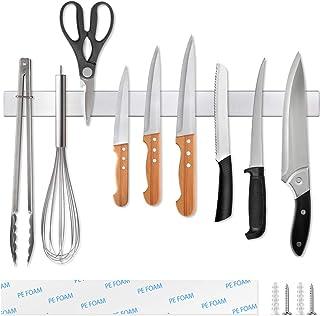 Ninonly Barre Magnetique pour Couteaux 50cm(20inch) Barre Aimantée Porte Couteaux Adhesif Porte Couteaux Magnetique Mural ...