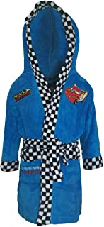 Blue Disney Cars Boys Robe Dressing Gown McQueen Polar Fleece 2-8 4-5 Years