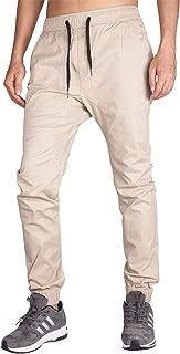 I.TALYMORN Men's Chino Jogger Casual Pant Elastic Adjustable Wasitband Slim Fit