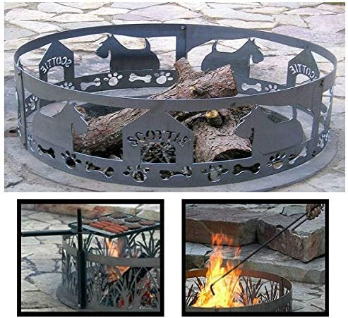Special price for a limited time PD Metals Steel Campfire Free shipping anywhere in the nation Fire Scottie with Ring Unpainted Design