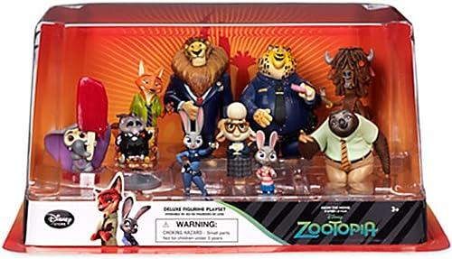Offizielle Disney Zootropolis Deluxe 10 Figur Spielset