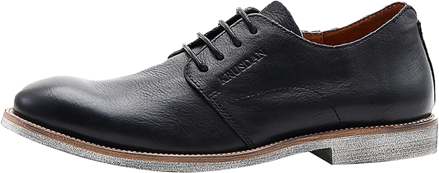 Icegrey Men Leather Oxford Casual shoes Lace-up Slip on