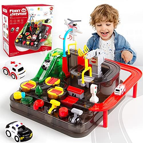 VATOS Track Cars Spielzeug für Kinder Jungen Mädchen Auto Spielzeug ab 3 4 5 6 7 8 Jahre Spielzeug Abenteuer Auto für Puzzle-Autobahnen Vorschule Lernspielzeug Kinder über 3 Jahre