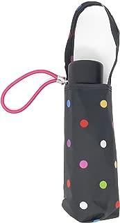 Micro Mini Manual Compact Umbrella, NeverWet technology, Colorful dots on black, 38