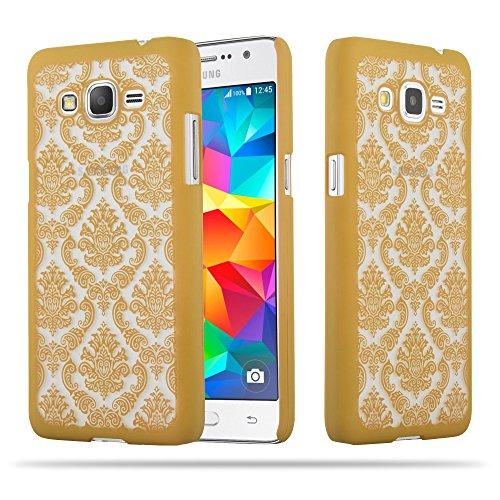 Preisvergleich Produktbild Cadorabo Hülle für Samsung Galaxy Grand Prime - Hülle in Gold Hardcase Handyhülle im Mandala Design - Schutzhülle Bumper Back Case Cover
