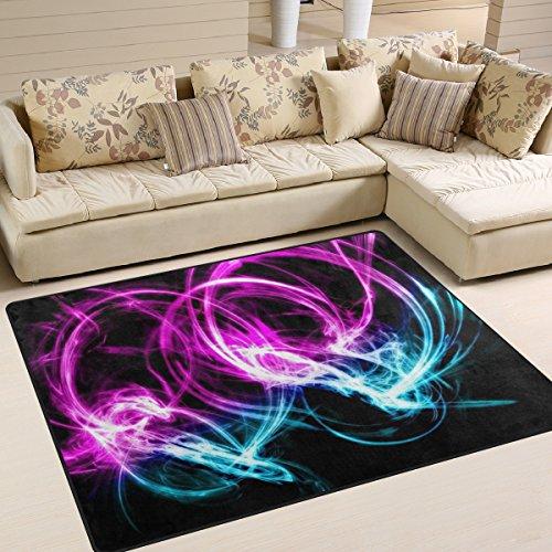Jstel Ingbags Teppich, superweich, modern, neonfarben, für Wohnzimmer, Schlafzimmer, Spielteppich, Heimdekoration, 160 x 122 cm, Polyester, multi, 63 x 48 Inch