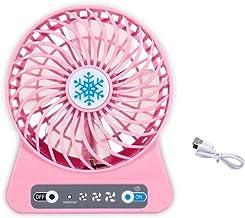 YAOHEHUA Draagbare Persoonlijke Mini Fan 3 Speed Verstelbare USB Fan Met LED Licht voor Thuis Kantoor Bureau Koeler Ventil...