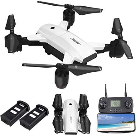 $179 » JJRC H78G FPV Drone with 1080P HD Wi-Fi Camera Live Video and GPS Return Home, RC Quadcopter for Adults, Follow Me and Film, 5G WiFi Transmission, GPS Waypoint Flying, Bonus Battery, White
