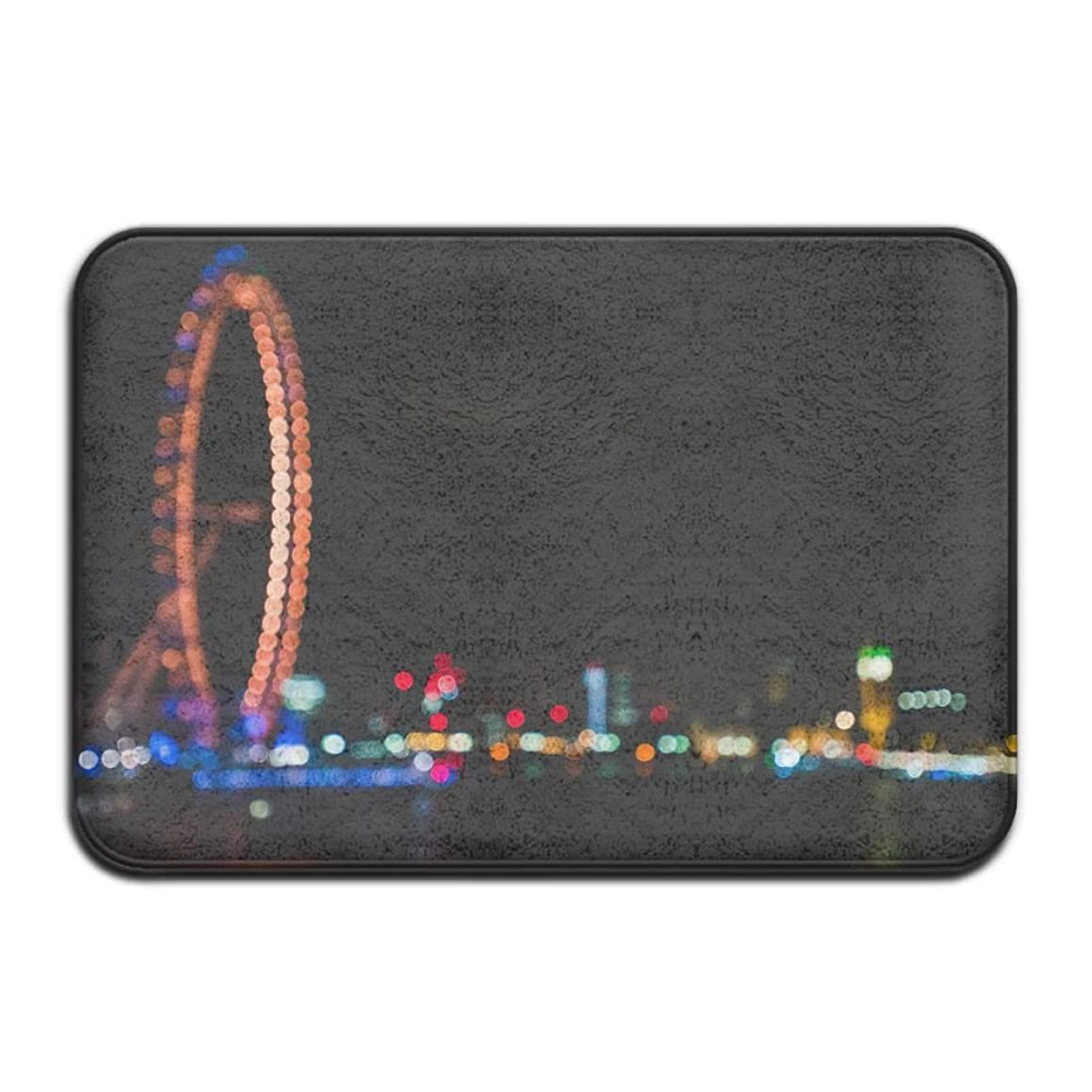Lights City Night London UK Blurred Bokeh Non Slip Indoor Doormat For Home Office Clean Absorbent Antiskid Kitchen Bath Mats