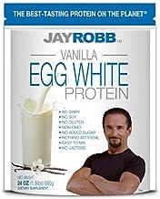 Jay Robb Vanilla Egg White Protein Powder, Low Carb, Keto, Vegetarian, Gluten Free, Lactose Free, No Sugar Added, No Fat, No Soy, Nothing Artificial, Non-GMO, Best-Tasting (24 oz, Vanilla)