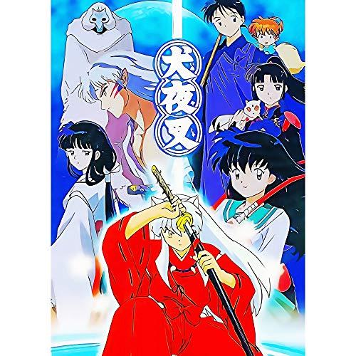 Puzzle 1000 Piezas Pintura de Inuyasha Imagen de Personaje de Anime japonés Pintura Art Deco Puzzle 1000 Piezas clementoni Rompecabezas de Juguete de descompresión intelectual50x75cm(20x30inch)