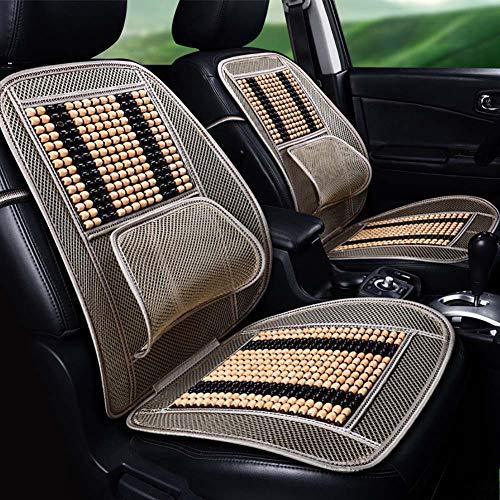 RUIX Autositzbezug Massage atmungsaktiv cool mat lendenwirbelstütze-Natürliche Holzperlen Kissen Universal Fit Für Autositz Oder Bürostühle -1 stücke,beige