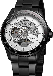 8085 Men Fashion Automatic Mechanical Business Wrist Watch Luxury Fashion Military Watch Men Skeleton Dial Stainless Steel...