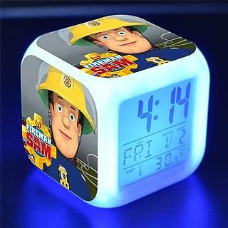 Kids Cartoon Bedroom Alarm Clock Bedside Fading Night Light Music Wake Up Clock Cute Mini Travel Alarm Clock Silent Desk Alarm Clock Gift for Home Children Boys Girls Teens,E