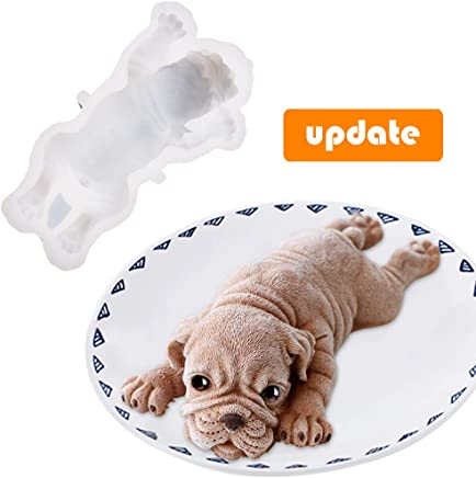 featured product Silicone Molds for Baking Dog Shape Cake Topper Shar Pei Cake Mold - Food Grade DIY 3d Candle Chocolate Pudding Ice Cream Fondant Mold - Mousse Cake Decorating Mould Easy Demould (Generation 2)