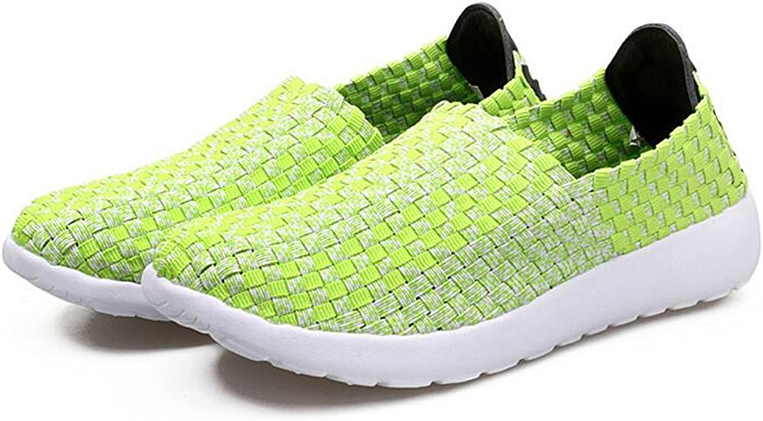 ALLAK Woven Flats Breathable Sneakers Walking shoes for Women