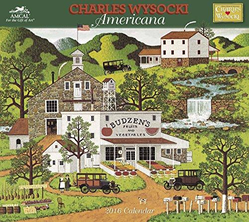 Charles Wysocki - Americana Wall Calendar (2016)