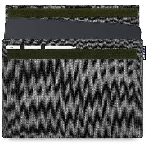 Adore June Business Tasche für Apple iPad Pro 12.9 2018 12,9 Zoll mit Apple Pencil Halterung, Grau/Schwarz