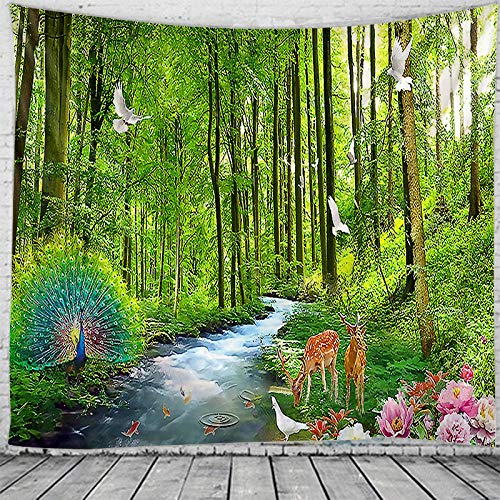 Tapestry 3D Landscape Tapestry Hippie Wall Tapestry Bohemian Home Decoration Tapestry Bedroom Dormitory Decoration Tapestry-90X60Cm Tapestries