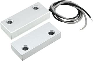 uxcell MC-52 No Alarm Security Rolling Gate Garage Door Contact Magnetic Reed Switch Silver Gray