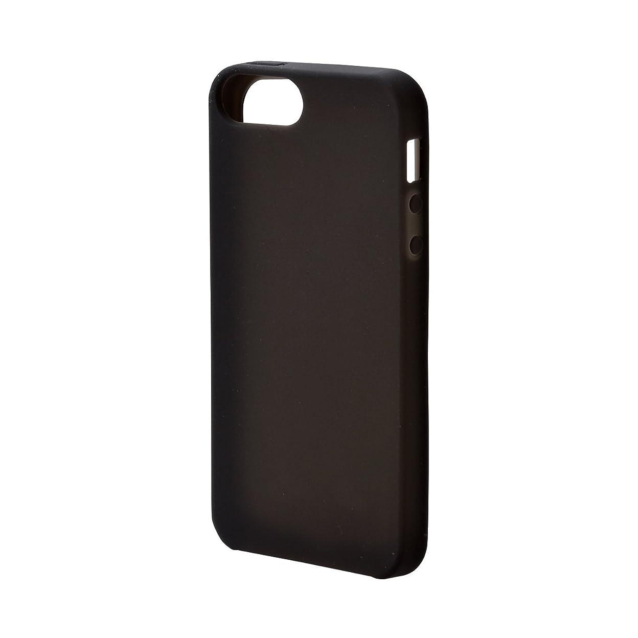 空中セブン冷えるエレコム iPhone SE ケース シリコン 【本体を優しく保護する】 iPhone 5s/5対応  ブラック PM-A18SSCBK