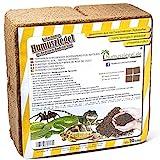 Humusziegel Brique d'humus - Litière de Terre de Coco 70 L - Terre de Terrarium pour Reptiles et litière d'humus pour Tortues