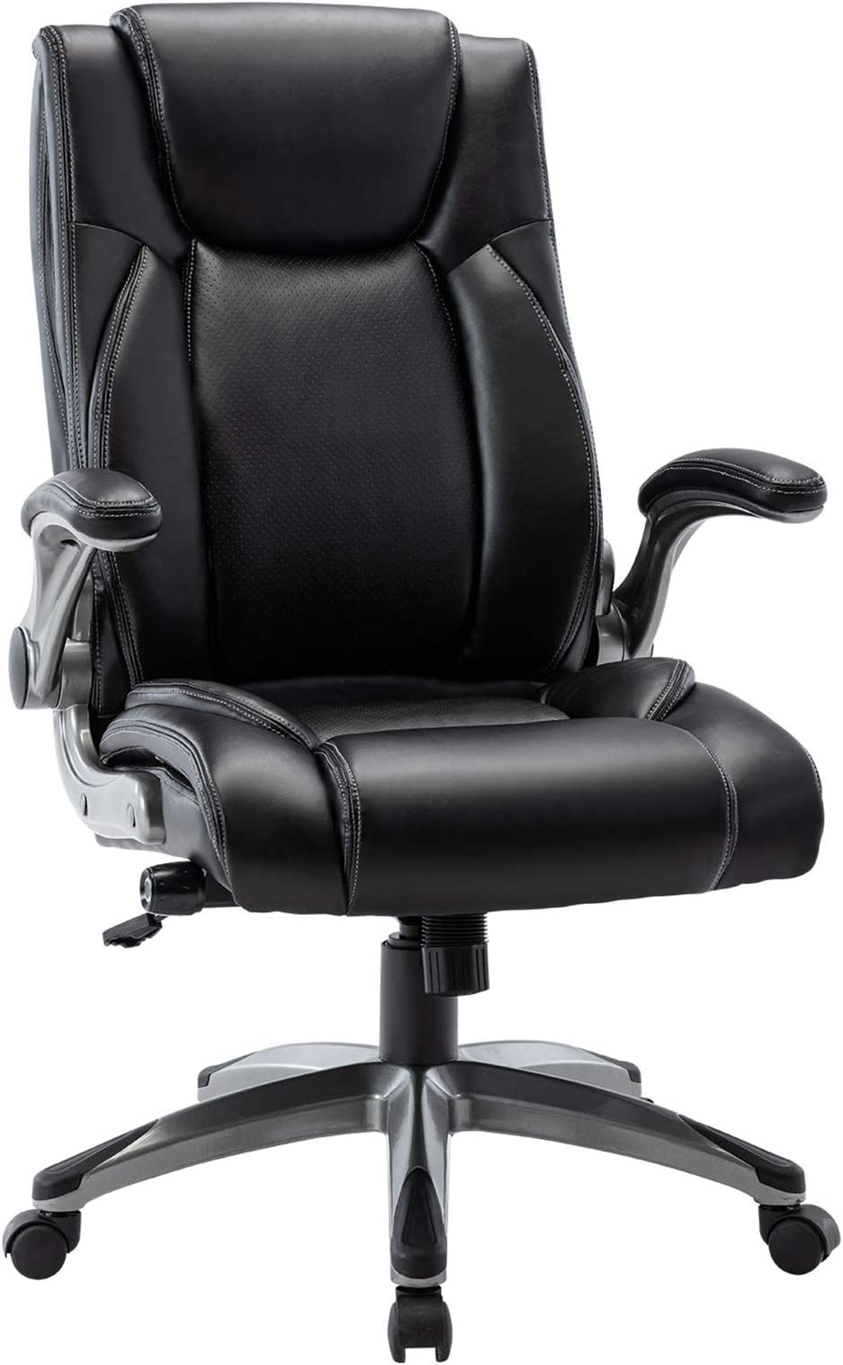 Desk chair with movable arms vs