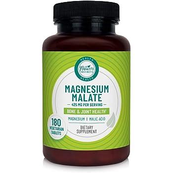 Nature's Instincts Magnesium Malate 425mg for Bone & Joint Health | Magnesium & Malic Acid | 180 Vegetarian Tablets