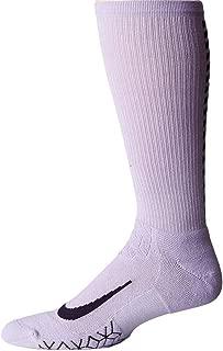 Dri-Fit Elite Cushion Crew Cut Running Socks Socks Purple/Black Reflective Elements LARGE