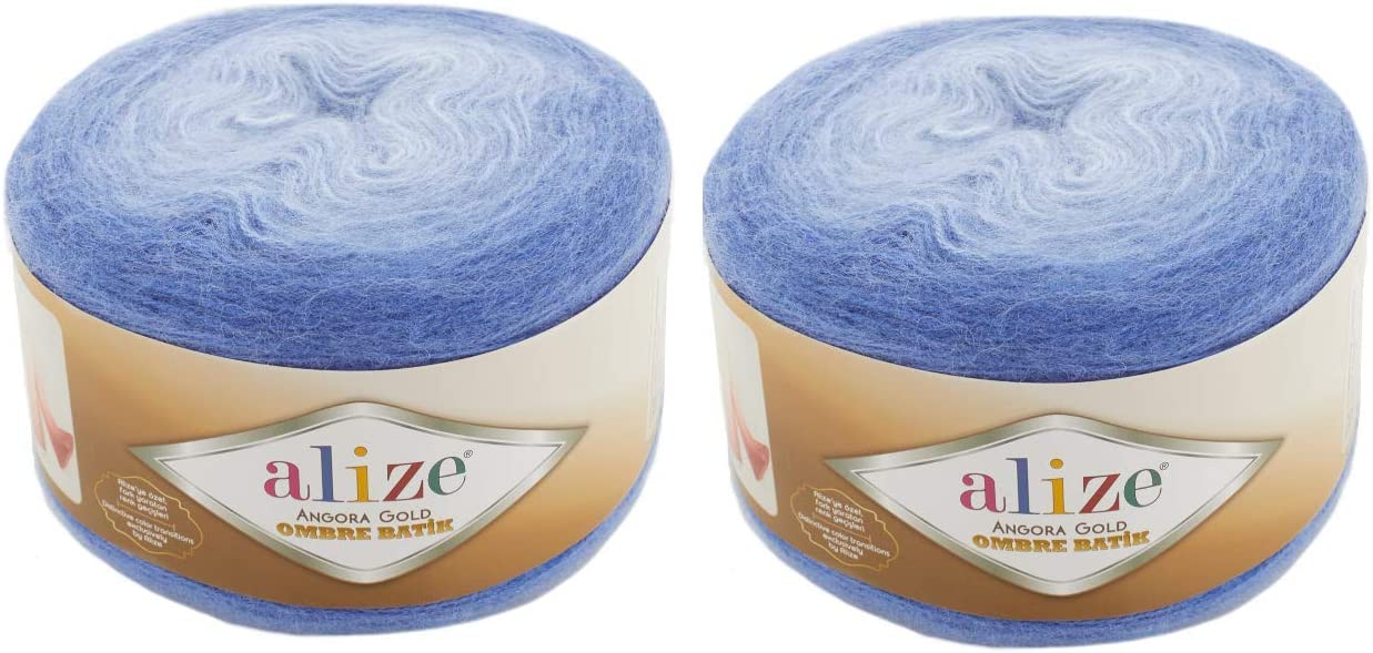 20% Wool 80% Acrylic Dallas Mall Soft Yarn Alize National products Ombre Batik Angora Gold 2sk